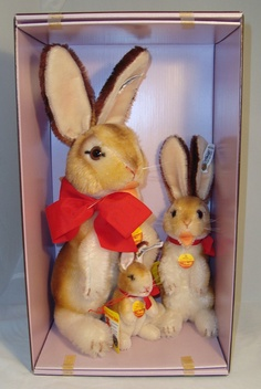 1983 Steiff rabbit family.