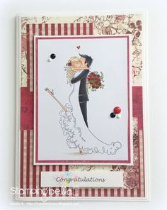 stampingbella BELLARIFIC FRIDAY SEPT 8th 2017 - RUBBER STAMP: UPTOWN COUPLE  BRETT AND BRENDA, card by SANDIE DUNNE