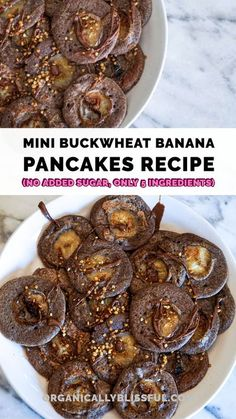 Mini Buckwheat Banana Pancakes With No Added Sugar! You only need 5 ingredients #pancakes #minipancakes #buckwheat #buckwheatpancakes #breakfast