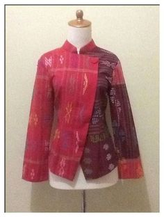Fzh Batik Blazer, Blouse Batik, Ankara Blouse, Batik Dress, Kulot Batik, Batik Kebaya, Batik Fashion, Hijab Fashion, Model Baju Batik