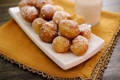 Zeppole are tiny Italian doughnuts - crisp, light and incredibly fluffy. This version is made using a pate choux dough, which when fried, become so airy, tender and golden brown. Italian Donuts, Italian Pastries, Italian Desserts, Köstliche Desserts, Italian Recipes, Delicious Desserts, Dessert Recipes, Yummy Food, French Pastries