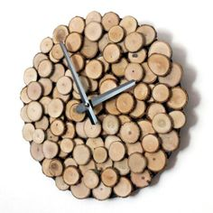 Eco-Friendly Wood Wall Clock from PaperlessKitchen.com