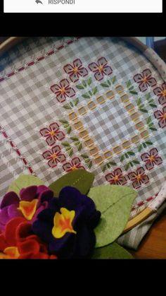 Hand Embroidery Videos, Hand Embroidery Stitches, Hand Embroidery Designs, Embroidery Patterns, Cross Stitch Patterns, Quilt Patterns, Chicken Scratch Patterns, Chicken Scratch Embroidery, Bordados Tambour