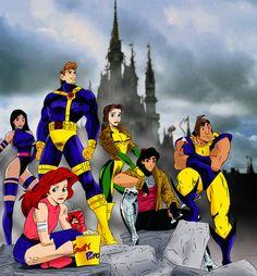 Disney's X-Men by *wingzero620 on deviantART  And I love Mulan as Psylocke!