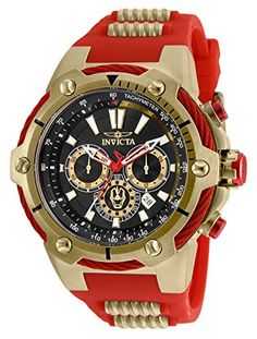 online shopping for Invicta Men's Marvel Quartz Watch Stainless Steel Strap, Red, 30 (Model: from top store. See new offer for Invicta Men's Marvel Quartz Watch Stainless Steel Strap, Red, 30 (Model: Sport Watches, Cool Watches, Watches For Men, Men's Watches, Elegant Watches, Beautiful Watches, Tony Stark, Man Thing Marvel, Watch Brands