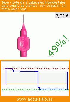 Tepe - Lote de 8 cabezales interdentales para cepillo de dientes (con colgador, 0,4 mm), color rosa (Salud y Belleza). Baja 49%! Precio actual 7,78 €, el precio anterior fue de 15,38 €. https://www.adquisitio.es/tepe/lote-8-cabezales-1