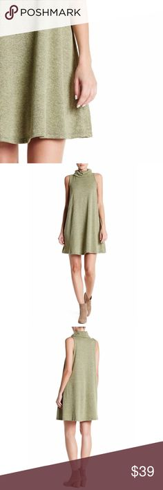 """Mini Dress cowl neck, approx. 35"""" length, made in USA, fits true to size, hand wash, polyester/spandex blend, taupe color available in another listing  ⁉️I'm happy to answer all your questions, please ask them before you buy so I can make your purchase in my closet absolutely perfect. Dresses"""