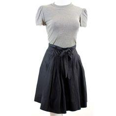 Jupe noire Sonia Rykiel noire coton et soie. Top Isabel Marant
