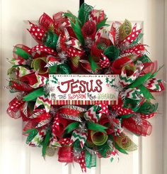 Christmas Wreath by SammysWreathBoutique on Etsy