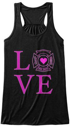 Love Firefighters Ladies Bella Flowy Tank NEW 2X nwt firewife firemom fire #FirstDueIN #TANK