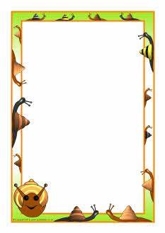 Snails A4 page borders (SB7129) - SparkleBox