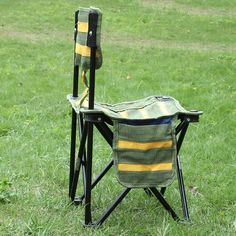 Outdoor Portable Striped Chair Folding Fishing Chair Fishing Tools