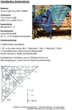 Výsledok vyhľadávania obrázkov pre dopyt bufanda triangular a crochet ravelry