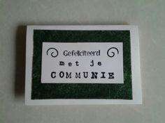 Communiekaart selfmade