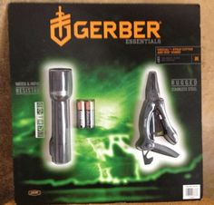 GERBER Essentials Emergency Survival Iris Flashlight & Crucial Multi-Tool Combo