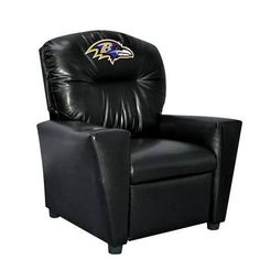 Baltimore Ravens Tween Faux Leather Recliner