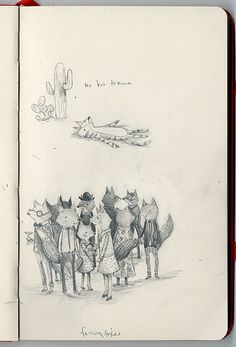 Stephanie Graegin, a Brooklyn-based children's illustrator Sketchbook