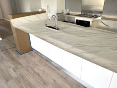 Dreaming of a new kitchen ? No need to spend a lot of money to replace your kitchen furniture! You can get your dream kitchen merely by covering your existing kitchen with Cover Styl' adhesive coverings! White Spirit, Vinyl Cover, Kitchen Renovations, White Marble, Kitchen Furniture, New Kitchen, Adhesive, Household, Money