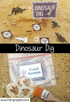 Dinosaur Dig dramatic play center and printables ~ Fairy Poppins Early Learning Activities, Craft Activities, Preschool Crafts, Dinosaur Activities, Preschool Themes, Kindergarten Centers, Vocabulary Activities, Kid Crafts, Preschool Activities