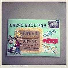 decorating envelopes before mailing