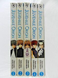 Juvenile Orion COMPLETE Series Set Manga Anime #1-5 Sakurako Gokurakuin