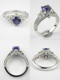 Custom Made Montana Sapphire Engagement Ring