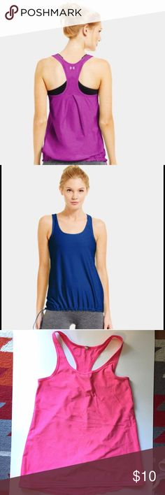Under Armour Flowy Tank Under Armour tank top, used but in great condition! Has an adjustable bottom, super comfortable and breathable! Under Armour Tops Tank Tops