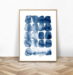 Watercolor Walls, Abstract Watercolor, Abstract Art, Navy Blue Decor, Trending Art, Cactus Wall Art, Blue Poster, Minimalist Painting, Art Moderne