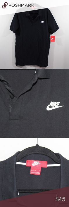 New Nike Grand Slam Slim Spell Out Polo Shirt Nike Grand Slam Slim Spell Out Polo  Shirt  New  Black   The size is Large  Measurements are:  20.5 inches underarm to underarm 31 inches top to bottom  Cotton   Check out my other items in my store Vogue Squared!    XL1 Nike Shirts Polos