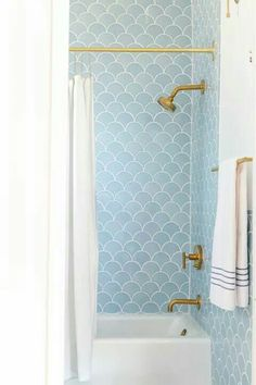 38 Beautiful Fish Scale Tile Bathroom Ideas www.futuristarchi… - 38 Beautiful Fish Scale Tile Bathroom Ideas www.futuristarchi… 38 Beautiful Fish Scale Tile Bathroom Ideas www. Bathrooms Remodel, Beautiful Bathrooms, Bathroom Inspiration, House Inspiration, Fish Scale Tile Bathroom, House Interior, Tile Bathroom, Bathroom Decor, Fireclay Tile