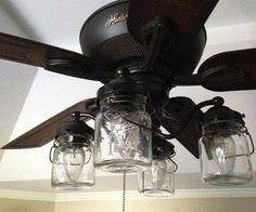 Mason Jar Ceiling Fan Light