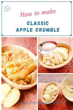 Classic Apple Crumble is a traditional and very popular warm apple dessert.   Soft sweet apples are topped with a crisp buttery crumble topping to make one of the simplest desserts, and one that makes everyone smile.