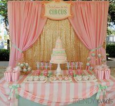 Circus Birthday - First Birthday Party Decor - meadoria Carousel Birthday Parties, Carousel Party, Circus Theme Party, Birthday Backdrop, Circus Birthday, First Birthday Parties, Birthday Decorations, Birthday Party Themes, First Birthdays