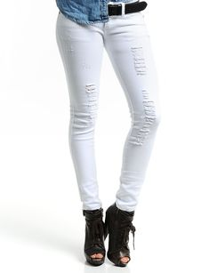 Awesome White Jeans for Women : White Ripped Jeans For Women ...