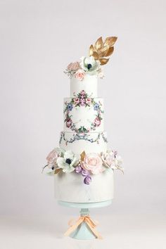 Wedding cake idea; Featured Cake: Nadia & Co