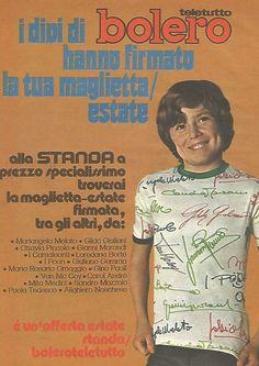 I divi di Bolero hanno firmato la tua maglietta - Pubblicità del 1976