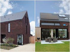 Huizen kijken - Livios Im Coming Home, House Roof, New Builds, Ramen, Interior Architecture, Facade, Kitchen Planning, House Design, Windows