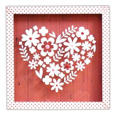 Floral Heart Shadowbox