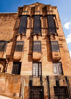 Architect Charles Rennie Mackintosh : The Glasgow School of Art in Scotland