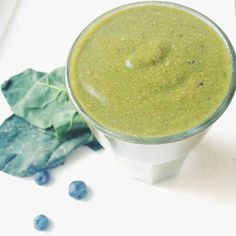Try out our Organic green smoothie. Not only is it delicious and healthy, one of these for breakfast will help your body release toxins and therefore have more energy to enjoy your day.   Apple  blueberries  spinach  flaxseeds  rice milk  walnuts or almonds