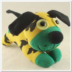Handmade Sock Dog Stuffed Animal Doll Baby by supersockmonkeys