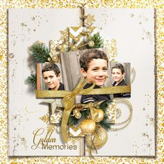 Christmas in Gold by Natali Designs; scrap page by SeattleSheri
