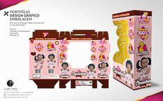 PORTFÓLIO DESIGN GRÁFICO EMBALAGEM Arte para embalagem Baby Chocolate da Tic Toy Brinquedos Serviço: Criação do Logotipo, Ilustração, Mockup 3D