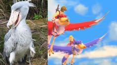 Shoebill and Skyward Sword Birds by ~kfirzi on deviantART #Soebill #Zelda