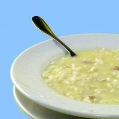 Avgolemono - made this delicious soup the other night. Really easy and relatively quick. But note, with the tasty rice, the leftovers of this are more like risoto than soup. All the broth gets soaked up.