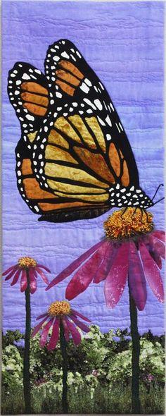 Yum Yum by Kay D. Haerland | art quilt, butterfly