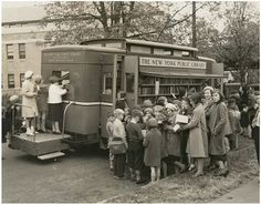 New York Public Library bookmobile.  I went to a very small country school and the highlight of my  week was the book mobile.