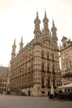Leuven, Belgium. Words cannot express how much I love the Town Hall!