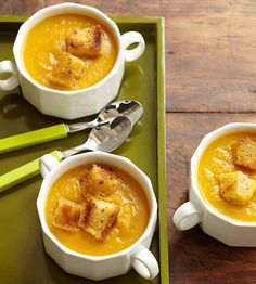 Apples and squash team up to make this soup rich and velvety even though there isn't a bit of cream.