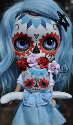༻✿༺ ❤️ ༻✿༺ Day of the Dead Blythe   Doll*icious   Enchanted Dolls ༻✿༺ ❤️ ༻✿༺